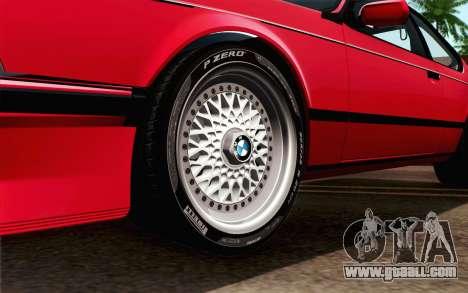 BMW M635CSI E24 1986 V1.0 for GTA San Andreas back left view