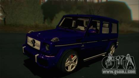 Mercedes-Benz G65 2013 Stock body for GTA San Andreas back left view