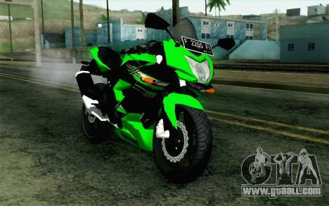 Kawasaki Ninja 250RR Mono Green for GTA San Andreas