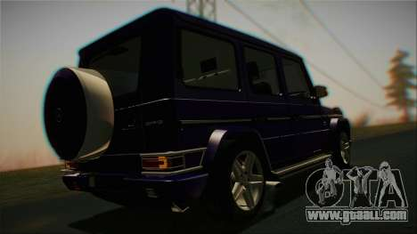 Mercedes-Benz G65 2013 Stock body for GTA San Andreas inner view