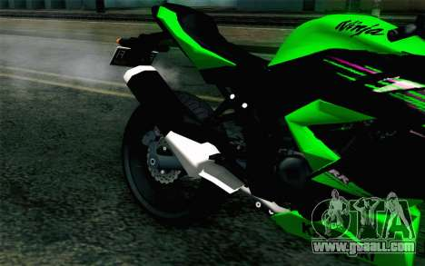 Kawasaki Ninja 250RR Mono Green for GTA San Andreas back view