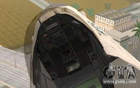 Mitsubishi F-2 Blue JASDF Skin for GTA San Andreas right view