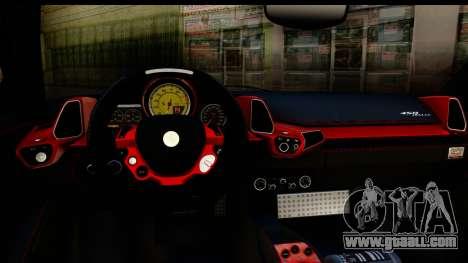 Ferrari 458 Italia for GTA San Andreas inner view