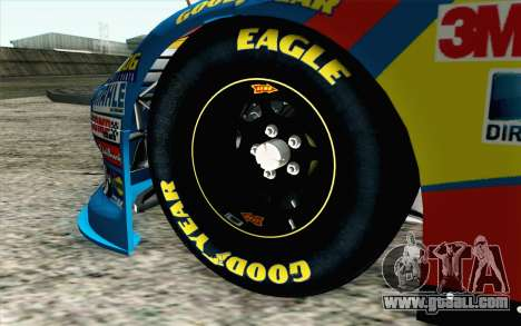 NASCAR Ford Fusion 2012 Short Track for GTA San Andreas back left view