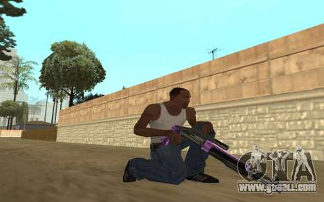 Purple Weapon Pack by Cr1meful for GTA San Andreas forth screenshot