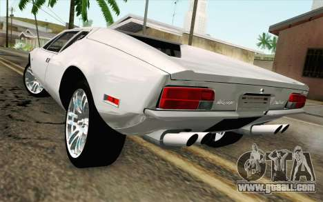 De Tomaso Pantera 1971 for GTA San Andreas left view