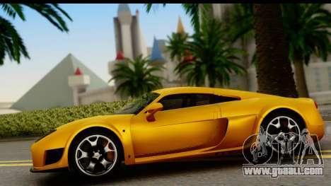 Noble M600 2010 HQLM for GTA San Andreas back view