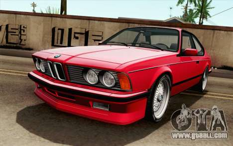 BMW M635CSI E24 1986 V1.0 for GTA San Andreas