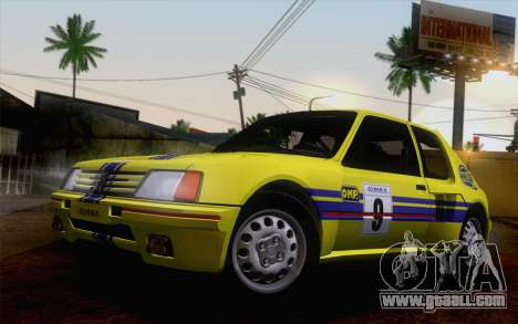 Peugeot 205 Turbo 16 1984 [HQLM] for GTA San Andreas back left view