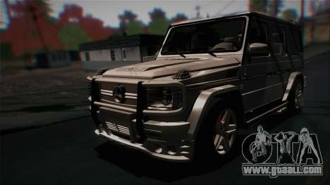 Mercedes-Benz G65 2013 Hamann Body for GTA San Andreas left view