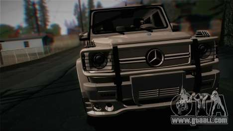 Mercedes-Benz G65 2013 Hamann Body for GTA San Andreas back left view