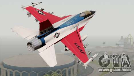 YF-16 Fighting Falcon for GTA San Andreas left view
