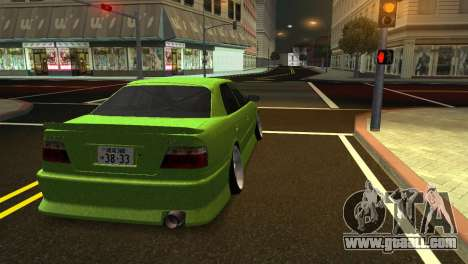 Toyota Chaser Tourer V for GTA San Andreas back left view
