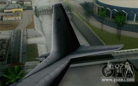 C-130H Hercules USAF for GTA San Andreas back left view