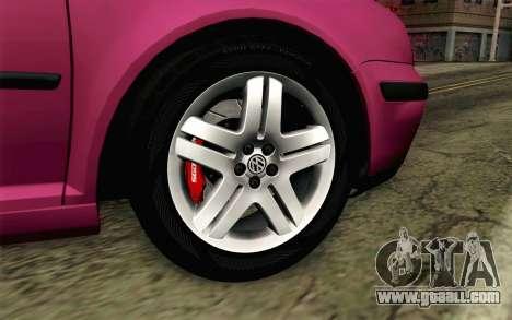 Volkswagen Golf v5 Stock for GTA San Andreas back left view