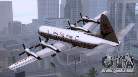 L-188 Electra Cathay P 1950-1958 for GTA San Andreas left view