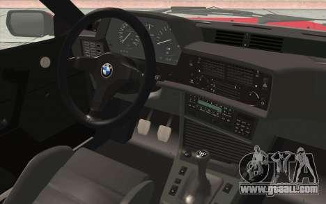 BMW M635CSI E24 1986 V1.0 for GTA San Andreas back view