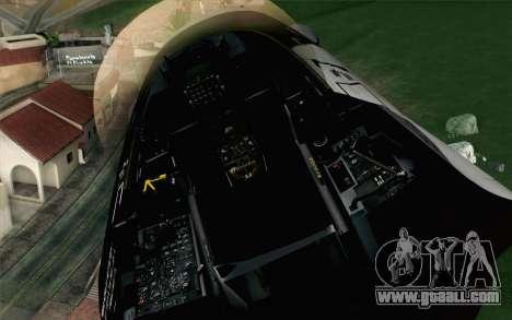 F-16C Fighting Falcon Aggressor Alaska BlackGrey for GTA San Andreas back view