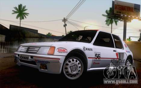 Peugeot 205 Turbo 16 1984 [HQLM] for GTA San Andreas back view