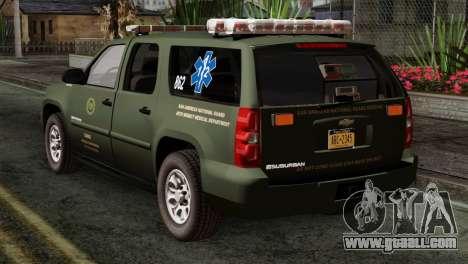 Chevrolet Suburban National Guard MedEvac for GTA San Andreas left view