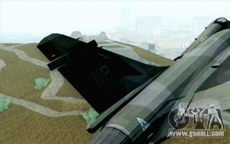 Dassault Mirage 2000 ISAF for GTA San Andreas back left view