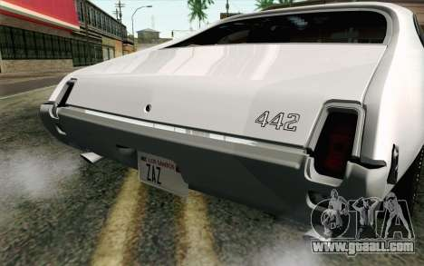 Oldsmobile 442 Holiday Coupe 1969 IVF АПП for GTA San Andreas back view