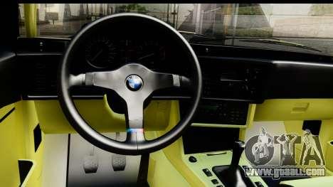 BMW M635 E24 CSi 1984 for GTA San Andreas inner view
