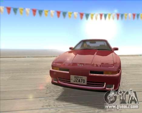 Toyota Supra 2.0GT MK3 for GTA San Andreas inner view