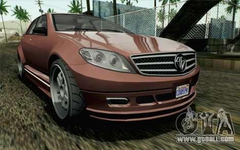 GTA 5 Benefactor Schafter SA Mobile for GTA San Andreas