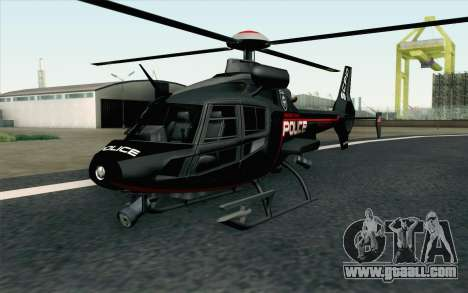 NFS HP 2010 Police Helicopter LVL 3 for GTA San Andreas