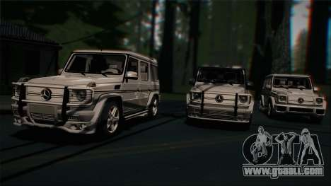 Mercedes-Benz G65 2013 Hamann Body for GTA San Andreas upper view