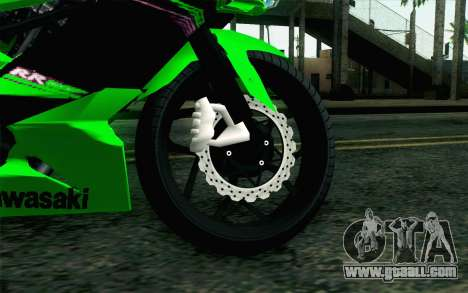 Kawasaki Ninja 250RR Mono Green for GTA San Andreas back left view