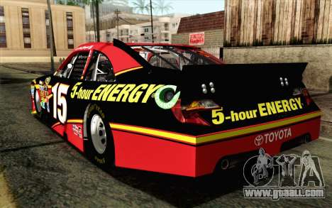 NASCAR Toyota Camry 2012 Short Track for GTA San Andreas left view