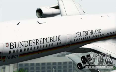 Airbus A340-300 Luftwaffe Konrad Adenauer for GTA San Andreas right view