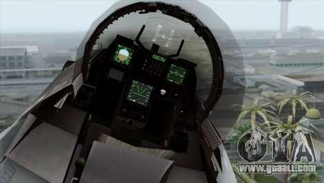 F-16C Block 52 PJ for GTA San Andreas back view