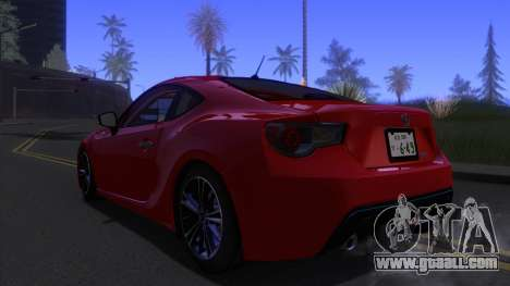 Scion FR-S 2013 Stock v2.0 for GTA San Andreas left view
