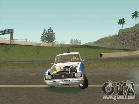 Moskvich 2140 Police for GTA San Andreas interior