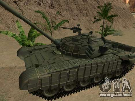 Tank T-72B for GTA San Andreas left view