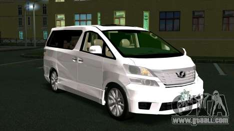 Toyota Vellfire for GTA San Andreas right view