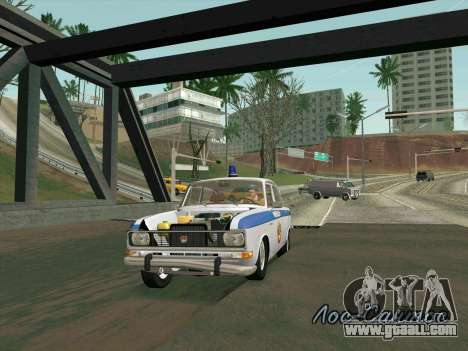 Moskvich 2140 Police for GTA San Andreas bottom view