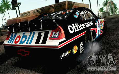 NASCAR Chevrolet Impala 2012 Plate Track for GTA San Andreas left view
