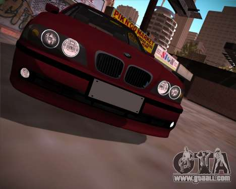 BMW 5-series E39 Vossen for GTA San Andreas right view