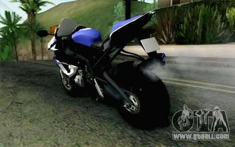 BMW S1000RR HP4 v2 Blue for GTA San Andreas left view