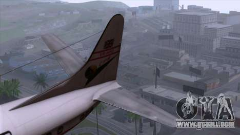 L-188 Electra Cathay P 1950-1958 for GTA San Andreas back left view