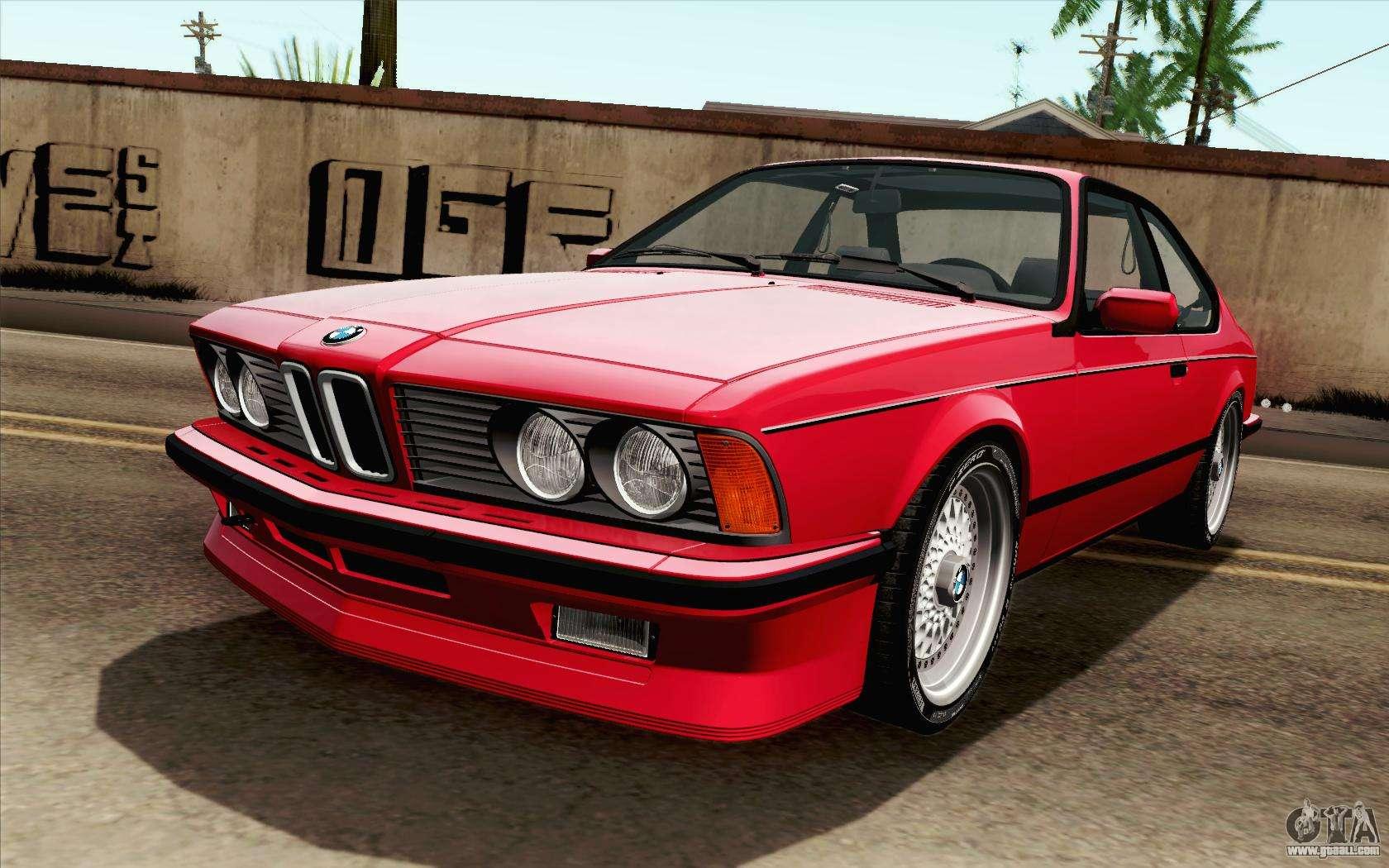 Bmw M635csi E24 1986 V1 0 For Gta San Andreas