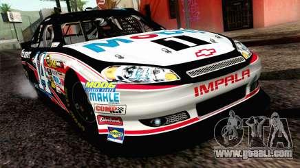 NASCAR Chevrolet Impala 2012 Plate Track for GTA San Andreas