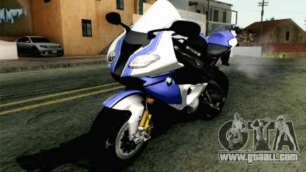 BMW S1000RR HP4 v2 Blue for GTA San Andreas