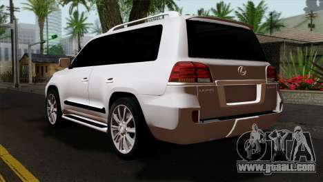 Lexus LX570 2011 for GTA San Andreas left view
