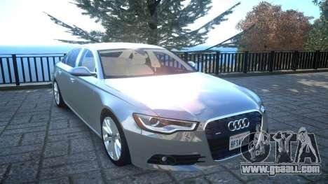 Audi A6 2012 v1.0 for GTA 4 inner view