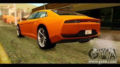 Lamborghini Estoque for GTA San Andreas left view